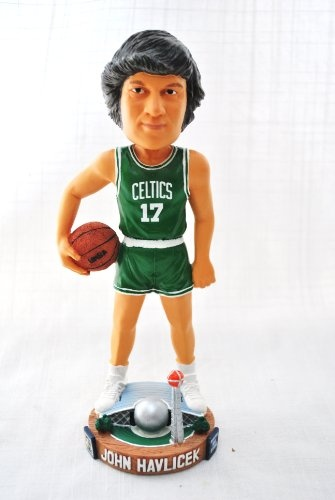 "Boston Celtics RARE Official NBA #17 John Havlicek Hall Of Fame ""legends of the Court"" base Bobble Head"