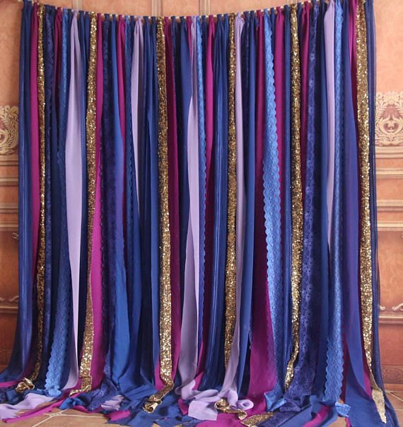 Blue Lace, Hot Pink, Purple Fabric Sparkly Photobooth