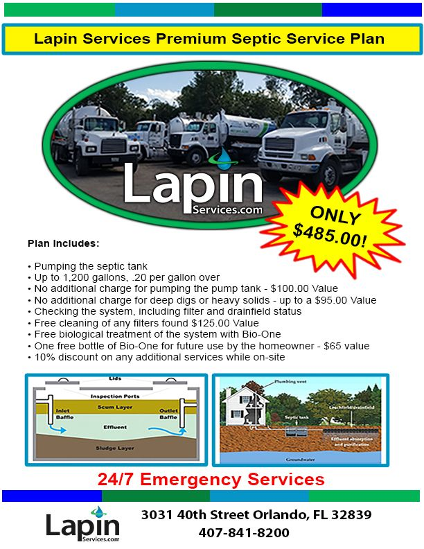 Due to extreme popularity - the Lapin Services Premium Septic Service Plan has been extended! Give us a call today for this discounted plan on maintaining your septic system. #lapinservices #orlandoseptic #septicmaintenance #septicserviceplan #orlandocommunities #propertymanagers
