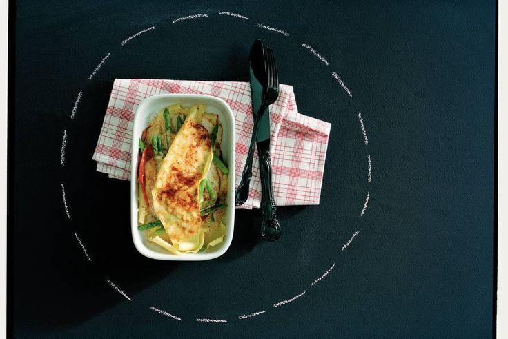 Lasagne met asperges en pastrami Gekookt door Anneke