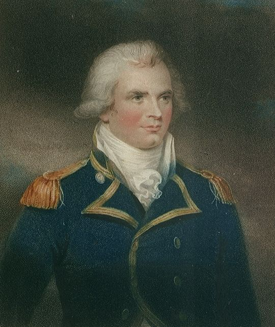 Admiral Henry Trollope. Son of a local clergyman the family moved into Huntingdon and such Henry was able to be made Freeman of the Town after his victory over four French Frigates by HMS Glatton.