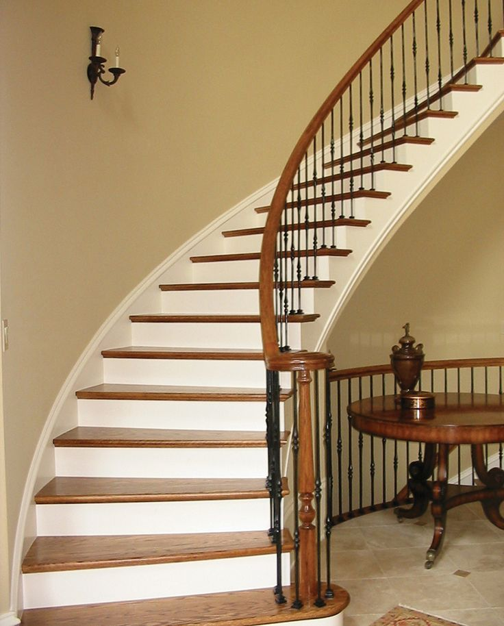55 best home plans with splendid staircases images on for Curved staircase floor plans