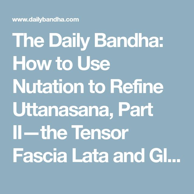 The Daily Bandha: How to Use Nutation to Refine Uttanasana, Part II—the Tensor Fascia Lata and Gluteus Medius