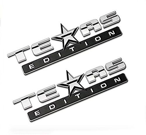 Chromed TEXAS EDITION Chromed Emblem Badge Decal Sticker Back for Chevy Silverado and GMC Sierra Car Styles Accessories 2Pcs