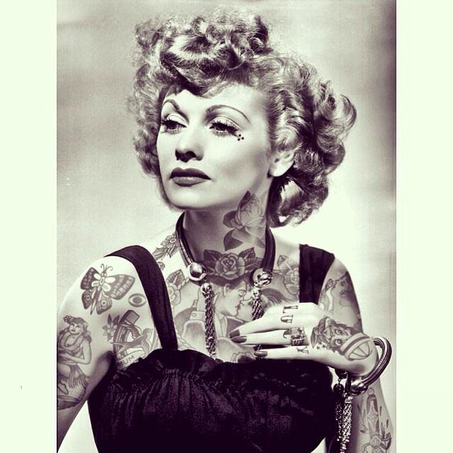 Best Cheyenne Randall Images On Pinterest Tattoo Ink Art - Artist reimagines celebrities covered in tattoos