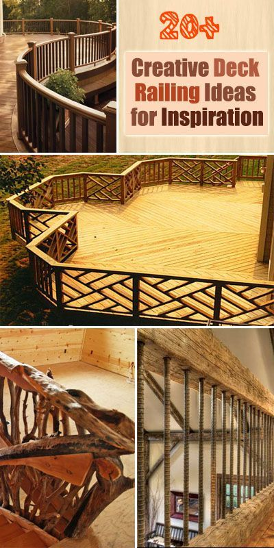 Best 20 Creative Deck Railing Ideas For Inspiration Creative Railing Design And Stair Risers 400 x 300