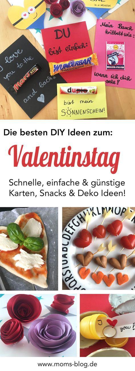 Einfache & günstige DIY Ideen zum Valentinstag :-) Karten, Snacks & Dekoideen!! Schaut doch mal auf dem Blog vorbei: http://www.moms-blog.de/diy-ideen-karten-snacks-valentinstag/