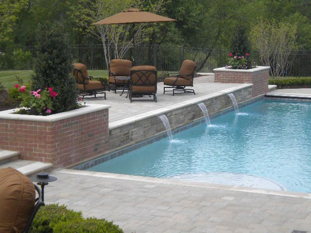 25 best raised patio trending ideas on pinterest for Raised pool designs
