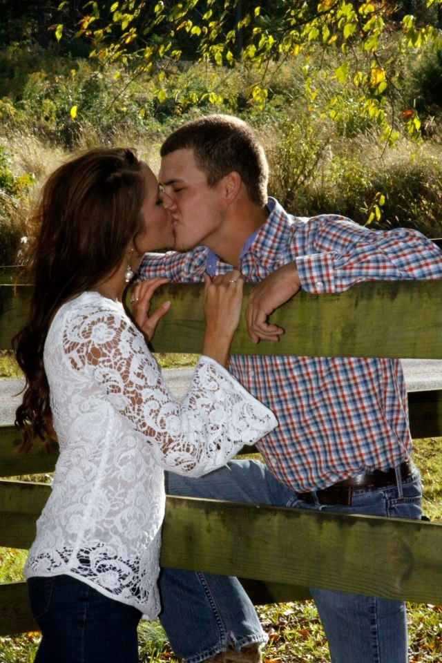 Fall engagement pic... I also love her shirt!