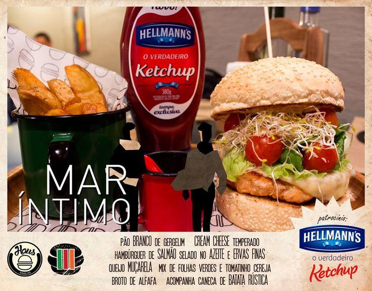 Hamburger Mar Íntimo com salmão <3