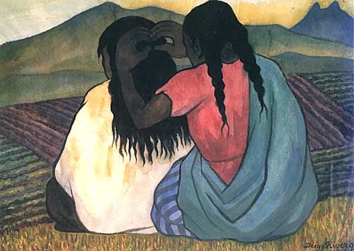 Diego Rivera, Woman Combing Hair