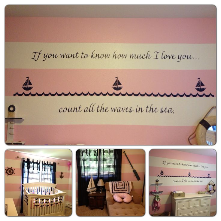 my baby girls nautical themed nursery