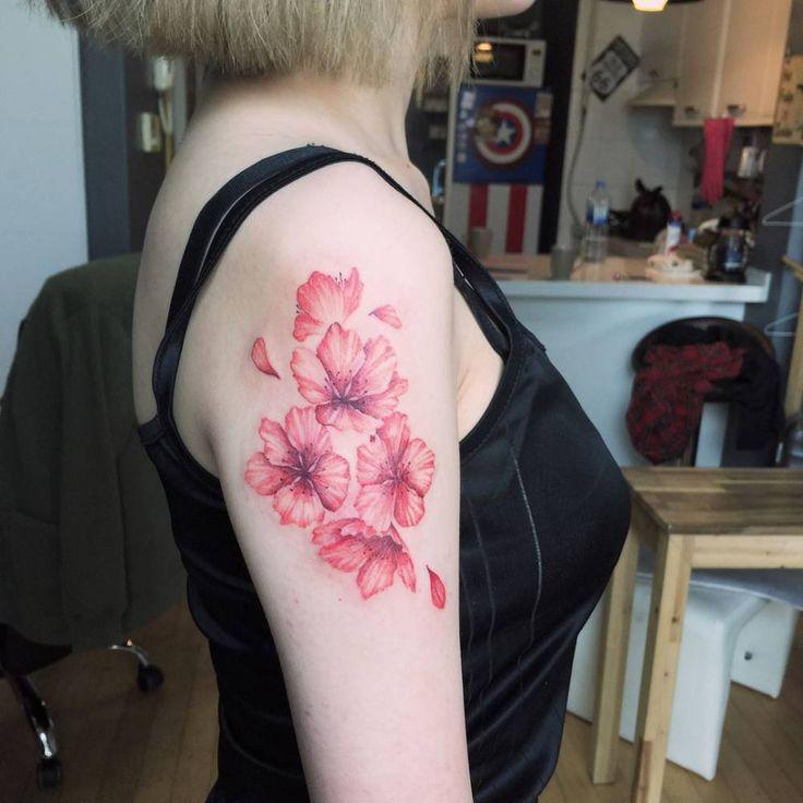 Cherry blossom scar cover-up.