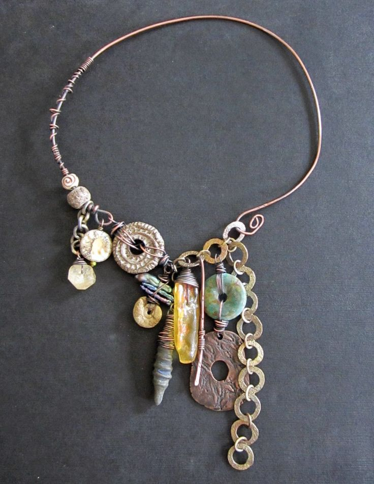 cascading gyspy charm necklace by staci louise originals www.stacilouiseoriginals.com