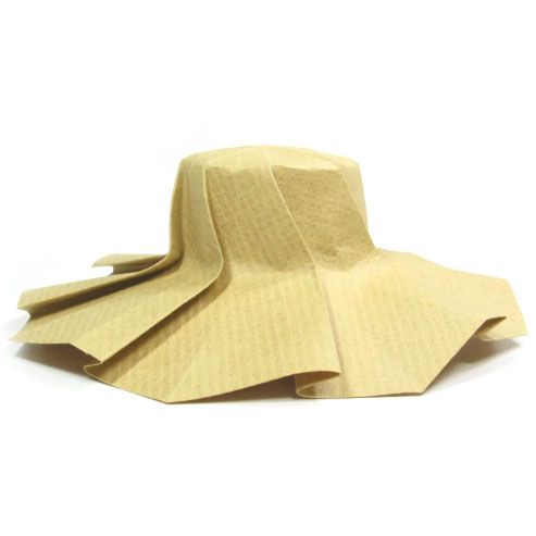How to make an origami sun hat (http://www.origami-make.org/origami-hat-sun.php)