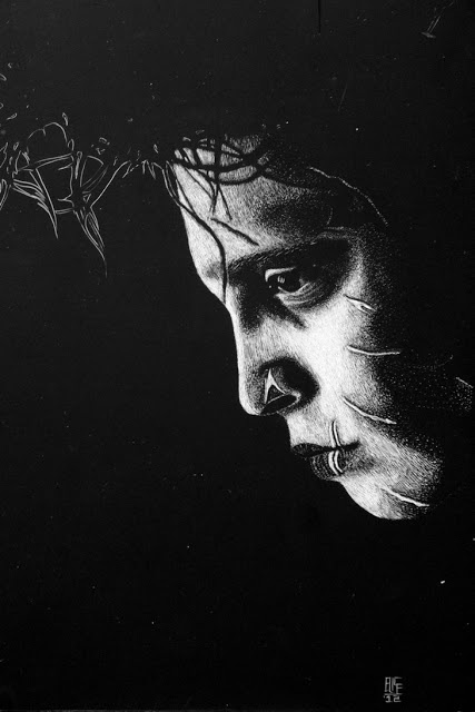 Edward Scissorhands Art by Elise