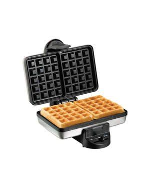 Hamilton Beach Belgian Waffle Maker (26009) |  $28.49 FROM AMAZON This value priced Belgian waffle maker from Hamilton Beach is a fraction of the price of similar models while being quick and easy to use; churning out two well-cooked Belgian-style waffles at a time in just 4 or 5 minutes.