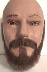 BMG225 <br>Thin Beard Set <br>100% Human Hair<br>Asst Colors <br> Glue On