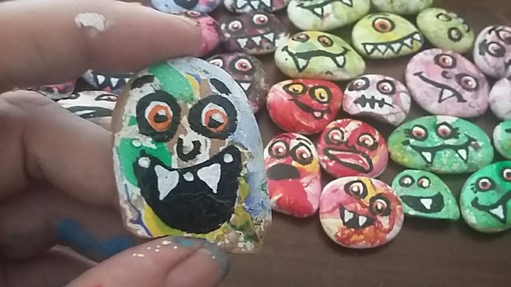Marbled monsters by Jessica Holmstrom Clark