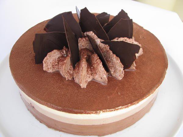 I Dolci di Pinella: Bavarese ai tre cioccolati di Montersino