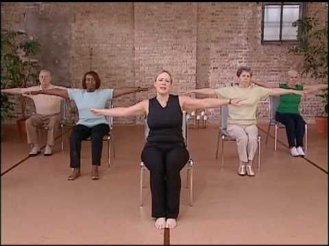 'Core Fitness' Chair Pilates Workout - Abdominal Exercise for Seniors, Chair Exercise - YouTube #abdominalworkout