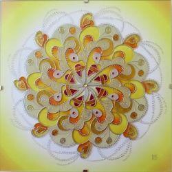 """Mandala Hand Glass drawing Mandala """"Sluneční...."""""""