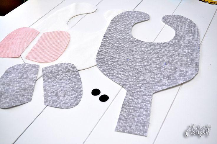elephant bib & binkie holder pattern/tutorial | sewing ...