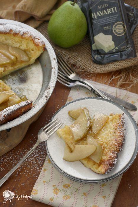 Savory Havarti Dutch Baby w/ Pears #CastelloHavarti
