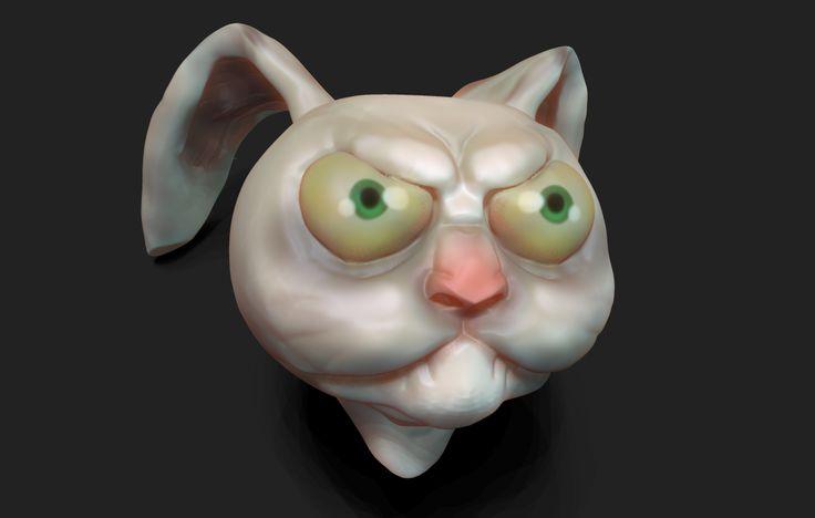 Conejo hecho para este 31 de octubre 2015 feliz halloween :) zbrush