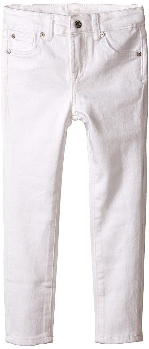 7 For All Mankind Kids The Skinny Jeans in Clean White (Toddler) (Clean White) Girl's Jeans - 7 For All Mankind Kids, The Skinny Jeans in Clean White (Toddler), 7FGT0770-117, Apparel Bottom Jeans, Jeans, Bottom, Apparel, Clothes Clothing, Gift, - Street Fashion And Style Ideas