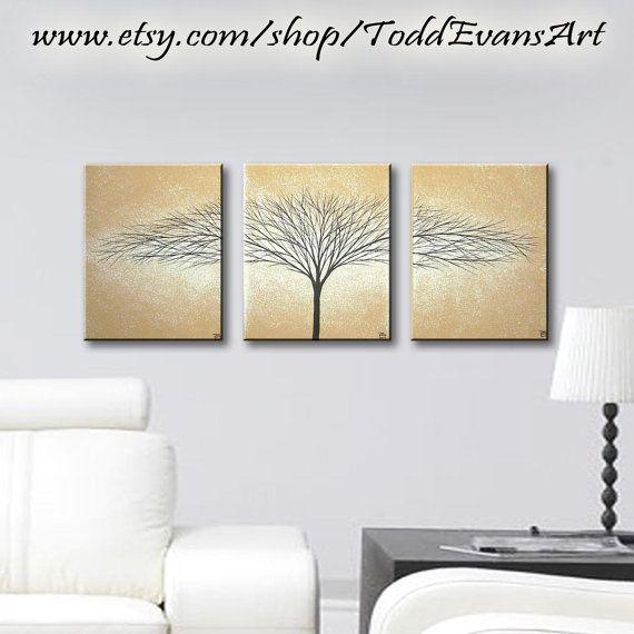 Canvas Art Wall Hangings Original Decorative Paintings 3 Piece Art ...