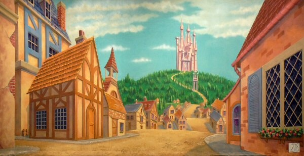 Beauty and the Beast town and castle