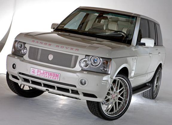 White Range Rover...my dream car..white with pink!!! LOVE LOVE LOVE!!