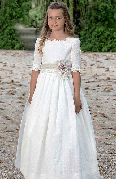 Fotos Vestido Comunión Niña Modelo 97904 de Amaya 2016. Catálogo Vestidos de Comunión Amaya Colección 2016