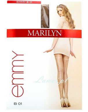 http://www.lamai.pl/14-rajstopy-wzorzyste-cienkie Rajstopy MARILYN Emmy B01 z szewkiem w listki - Sklep Lamai.pl