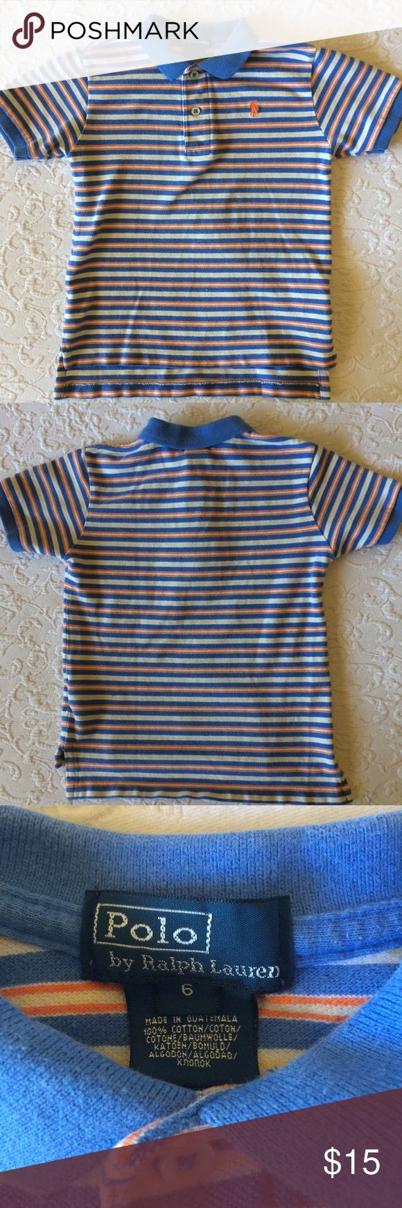 Boys Ralph Lauren striped pique polo shirt In excellent used condition! Ralph Lauren Shirts & Tops Polos