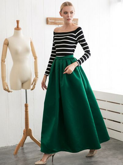 Best 25  Dark green skirt ideas only on Pinterest | Dark green ...