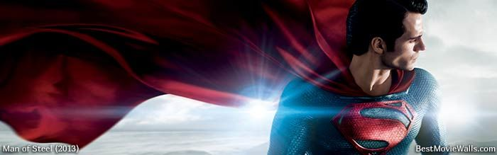Man of Steel wallpaper for your multiple monitors :}
