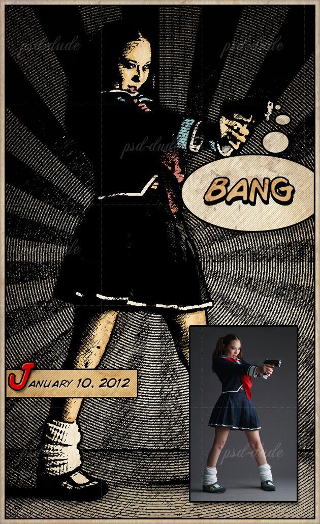 Use Photoshop to make photos look like vintage comics (Tutorial).