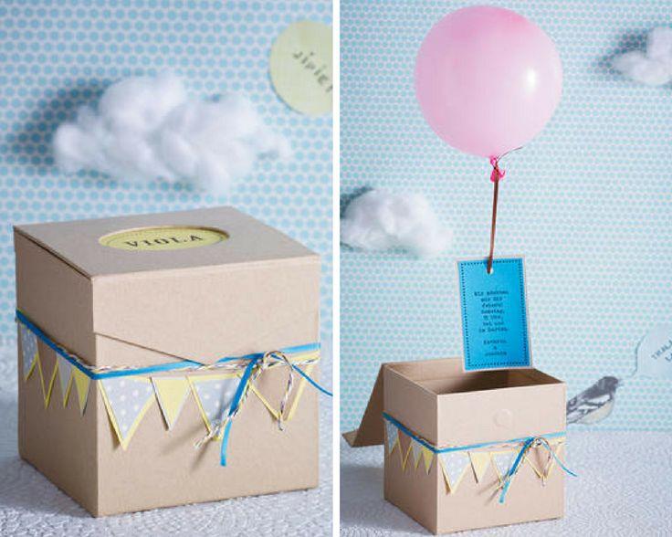 Überraschungsbox als Einladungskarten kostenlos zum Ausdrucken