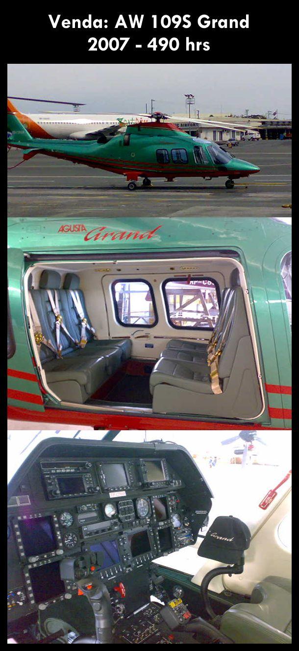 Aeronave à venda: Agusta Westland AW 109S Grand, 2007, 490 hrs. #agusta #agustawestland #aw109sgrand #agustagrand #airsoftanv #aircraftforsale #aeronaveavenda #pilot #piloto #helicoptero #aviation #aviacao #heli #helicopterforsale  www.airsoftaeronaves.com.br/H177