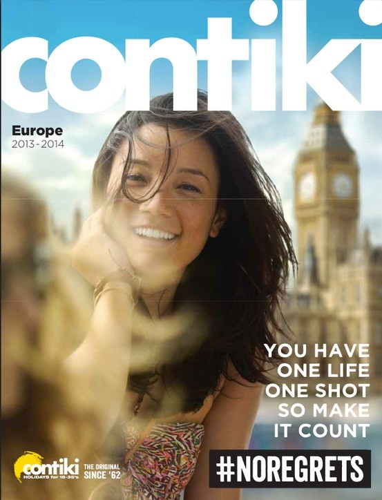 Contiki, Europe & UK 2013-14 Brochure. Tours for the 18-35's