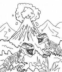 knabstrupper hengst dinosaur coloring pages | Volcano Dinosaur Coloring Pages | Dinosaur coloring pages ...
