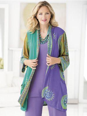 Clothing ideas: Batik light jacket/blazer.