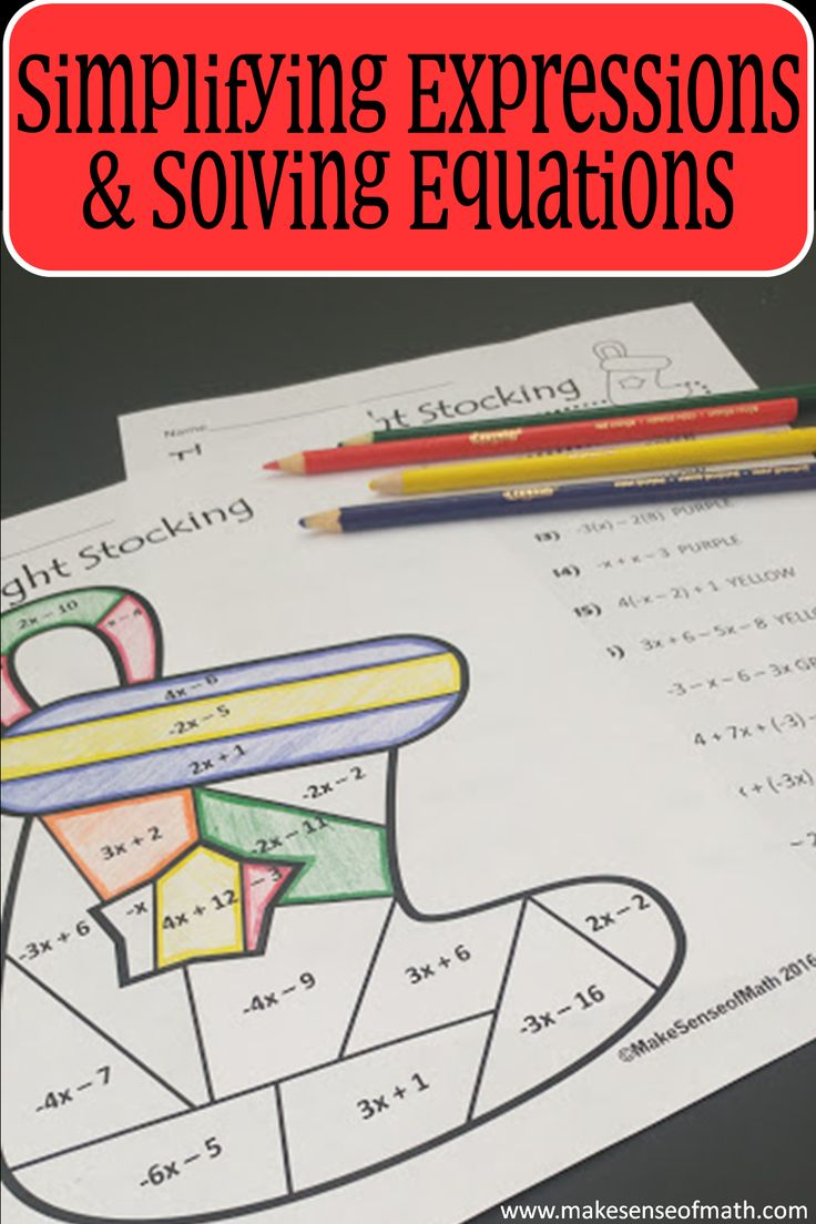 The 25+ best Solving algebraic expressions ideas on Pinterest ...