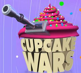Cupcake wars. Soooo much stress over...cupcakes?It's a really fun show, though, and it makes you want to eat cupcakes