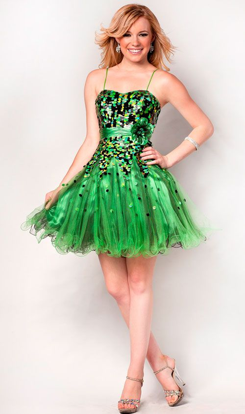 cocktail dresses in green