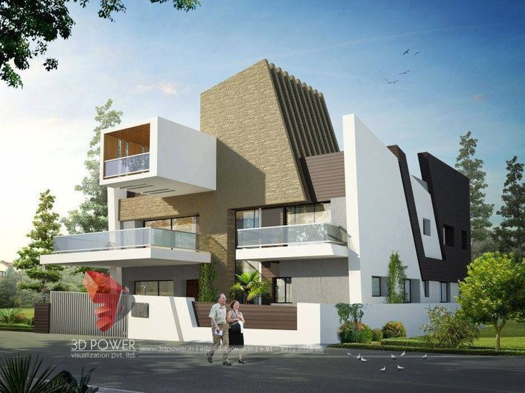 Ultra Modern Bungalow Exterior Day Rendering And Elevation Design By Power