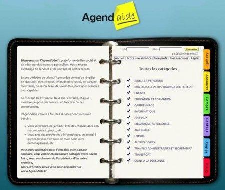 Agendaide : Réseau d' Entraide entre particuliers pour faire des économies