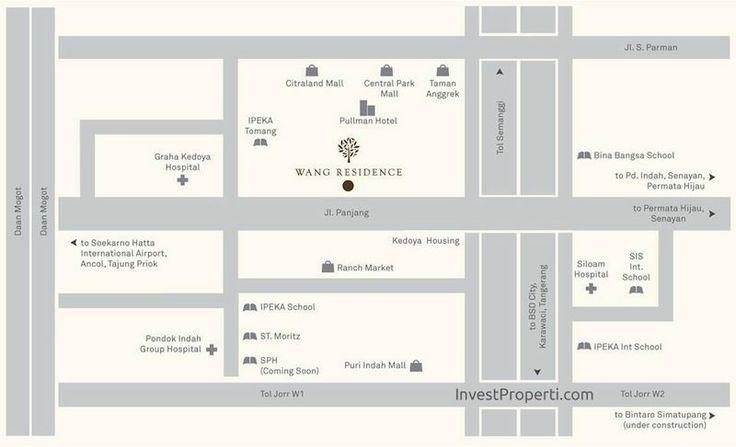 Peta Lokasi Apartemen Wang Residence